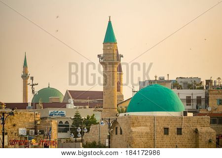 Sinan Basha Mosque In The Old City Of Acre (akko)