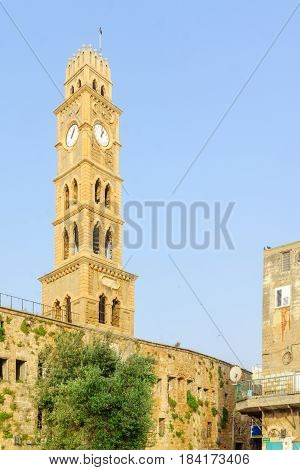 The Clock Tower In Acre (akko)