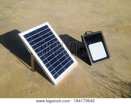 mini solar cells head up to sun light