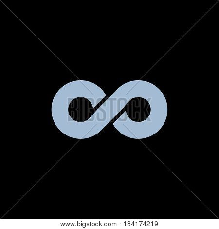 Infinity symbol isolated on background. Vector illustration. Eps 10.