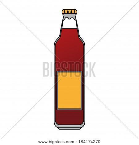 color image cartoon bottle glass of refresh beverage vector illustration