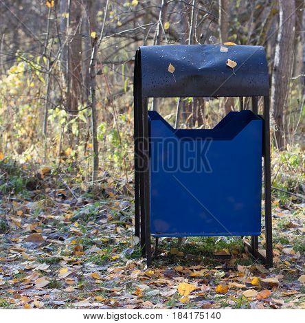 Trash Bin In A Park