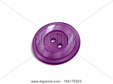 Single clothing button isolated over the white background