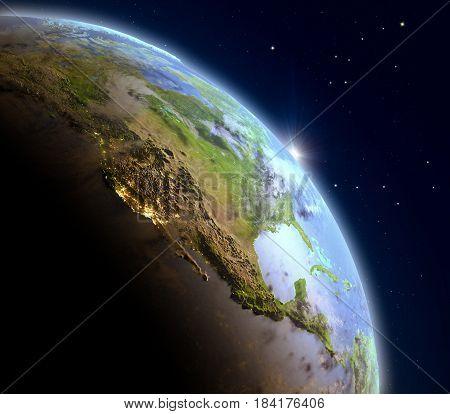 Sunrise Above North America