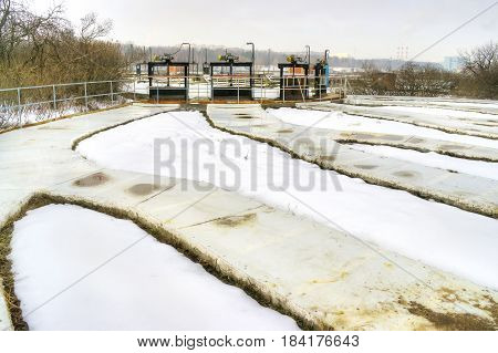 Moscow. Urban wastewater treatment plant and sewerage. Lyubertsy