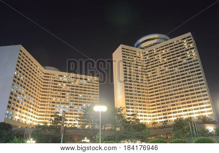 GUANGZHOU CHINA - NOVEMBER 14, 2016: Flower Garden Hotel. Flower Garden Hotel is one of the most prestigious hotel in Guangzhou.
