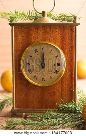 Nearly Twelve O'clock Midnight New Year Concept.