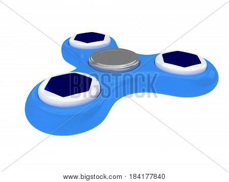 3D Illustration Of Fidget Spinner Isolated On White