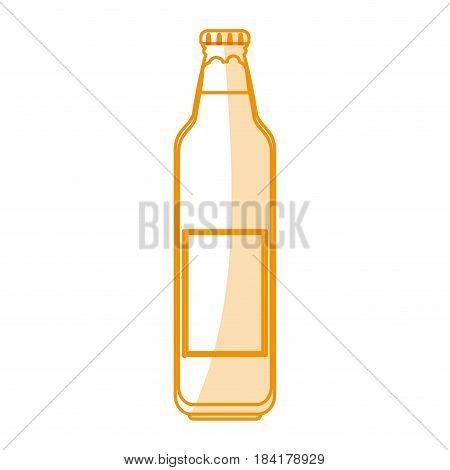 orange silhouette shading cartoon bottle glass of refresh beverage vector illustration
