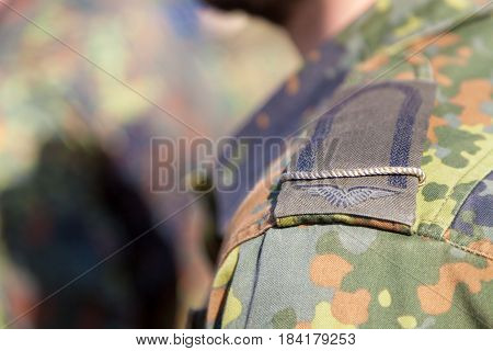 a shoulder from a german corporal soldier