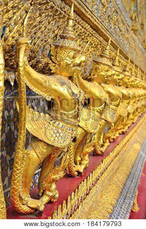 Garuda sculpture at Thailand Royal palace Bangkok Thailand