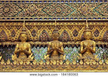 sculpture at Thailand Royal palace Bangkok Thailand