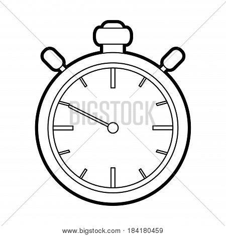 black silhouette stopwatch graphic icon vector illustration