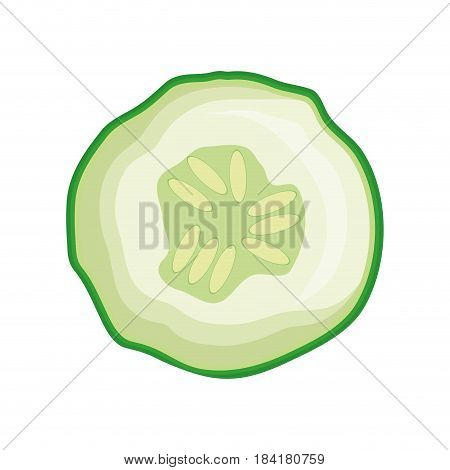 cucumber vegetable icon over white background. vector illustration