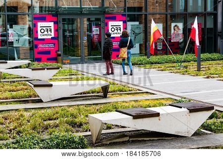 Cracow Poland - April 30 2017: NETIA OFF CAMERA INTERNATIONAL FESTIVAL OF INDEPENDENT CINEMA.