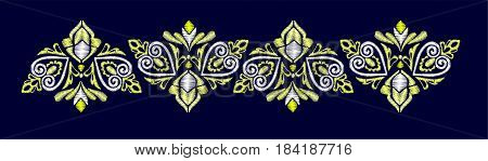embroidery ornament design vector, Embroidery for Fashion