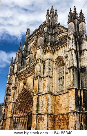 Batalha Dominican medieval monastery. Portugal - great masterpieces of Gothic art. UNESCO World Heritage