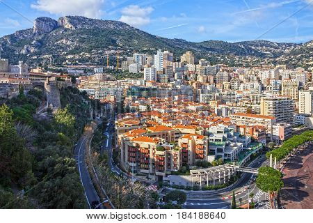 Monaco and Monte Carlo principality city scape.