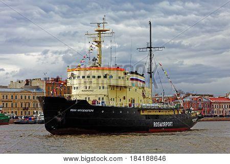 Icebreakers festival in St. Petersburg, Russia. Icebreaker IVAN KRUZENSHTERN.