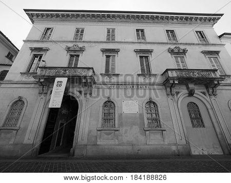 Museo Garibaldi (garibaldi Museum) In Como In Black And White
