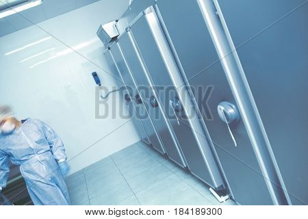 Expert activity in the morgue. Workplace concept