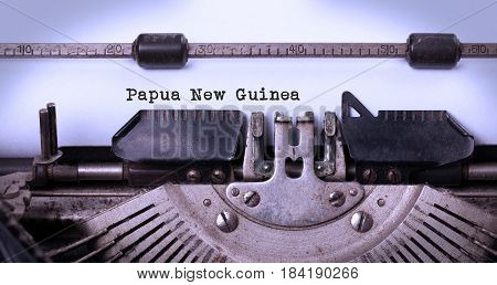Old Typewriter - Papua New Guinea