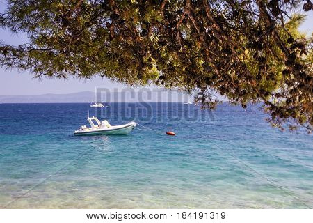Croatia seascape Brac island Adriatic sea, Dalmatia