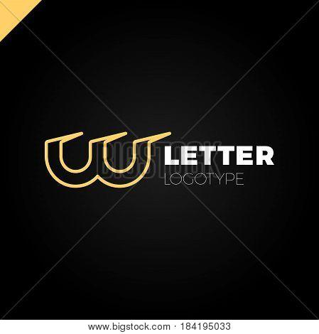 Dynamic Initial Letter Lw Linked Round Lowercase Logo