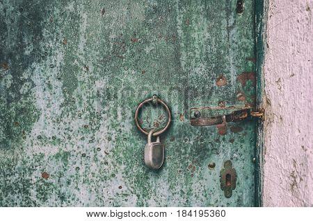 Rusty Metallic Door