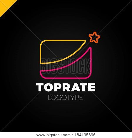 Best Market Rate Logo Or Finance Logotype With Star Symbol
