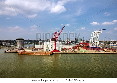 sea port Rotterdam container terminal, The Netherlands