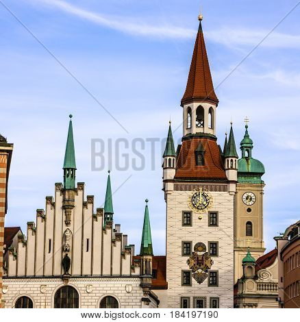 Munich, Germany. Capella in Historical center of city