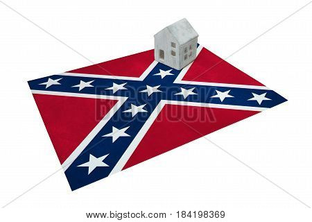 Small House On Flag - Confederate Flag