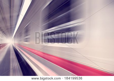 Bogies of Train Speed motion abstract background