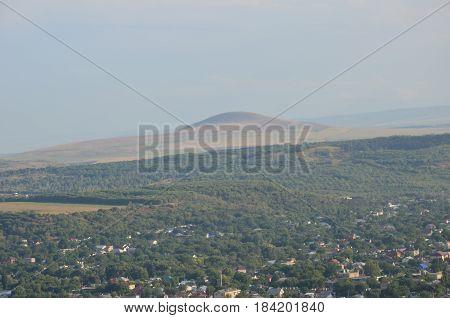 View From The Mountain To The Village Mashuk