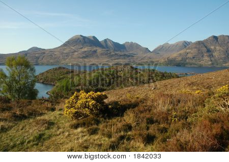 Beinn Alligin And Loch Torridon, Scotland.