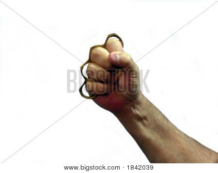 Holding Brass Knuckles