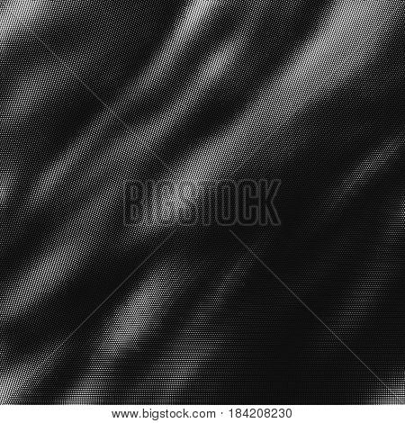 Vector Abstract Halftone High Quality Texture. Dotted 3D Geometric Structure Background