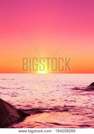 Sea Horizon Background