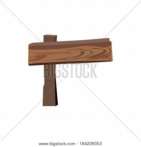 Wooden sign board isolated on white. Wood old road planks. Vector illustration