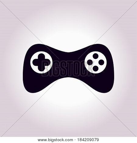 Gamepad icon. Vector. Flat design style. Joypad symbol.