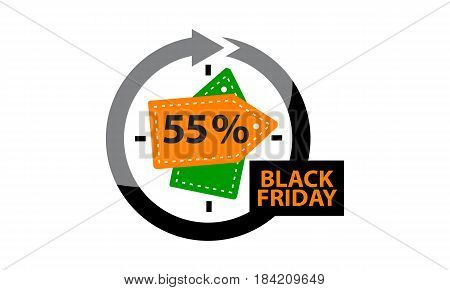 This image describe about Black Friday Discount 55 %