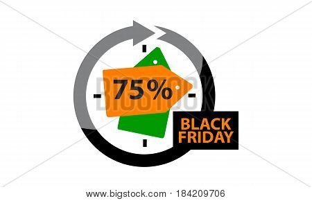 This image describe about Black Friday Discount 75 %