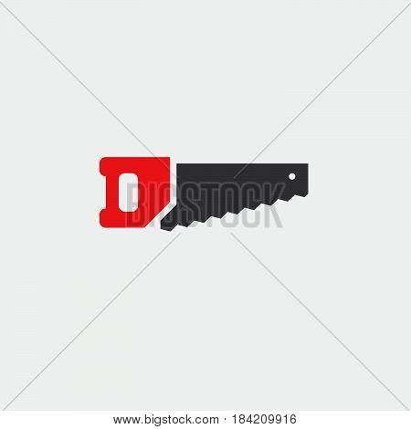 hacksaw icon isolated on white background .