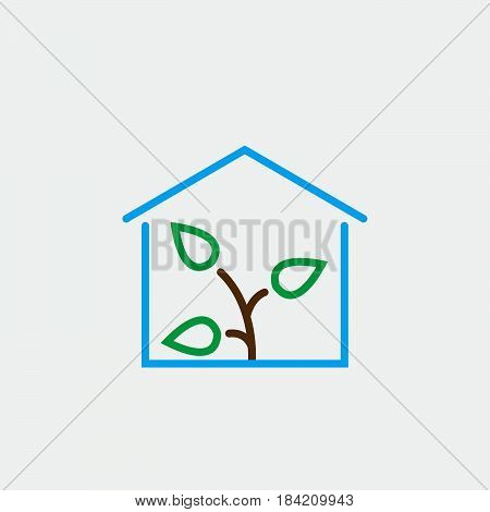Greenhouse icon isolated on white background .