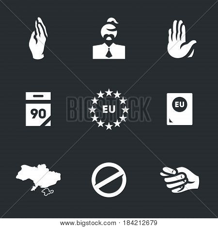 Vote hand, Ukrainian, against, calendar, european union, passport, card, ban, denial.