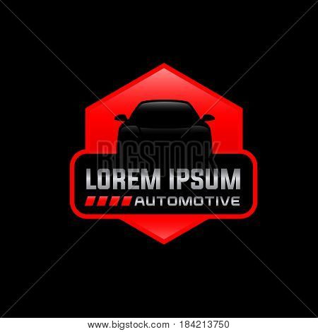 Auto logo emblem vector Illustration of abstract auto Vector logo design template