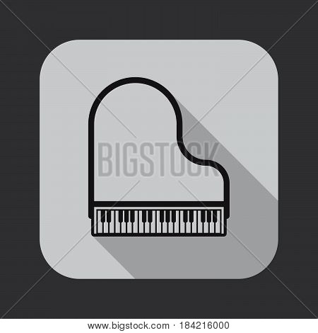 grand piano icon isolated on white background .