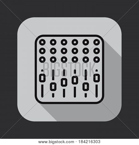 mixing console icon isolated on white background .