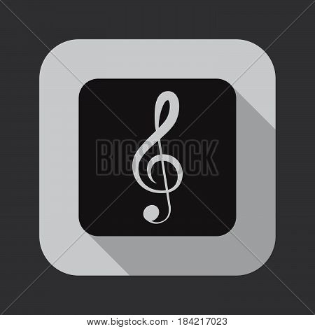 treble clef icon isolated on white background .